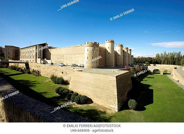 Palacio de la Aljafería, Zaragoza. Aragón, Spain