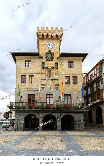 Town Hall of Castro Urdiales, Cantabria, Spain