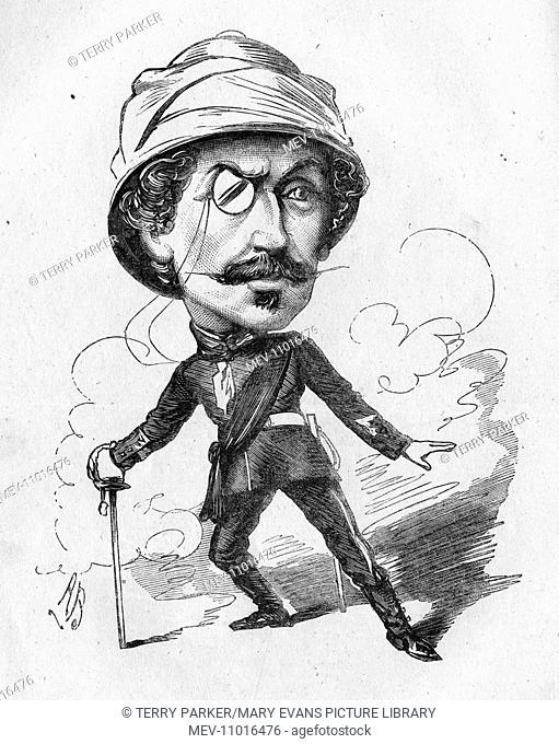 Caricature of Algernon Syms (?-1915), actor