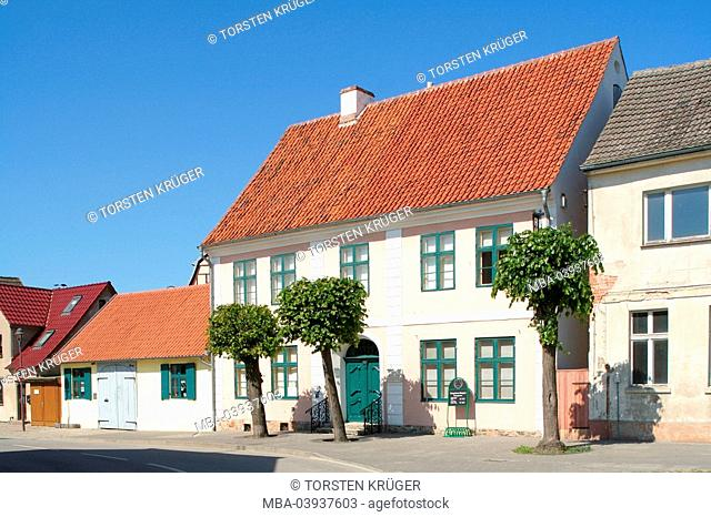 Germany, Mecklenburg-Western Pomerania, Wolgast, old town, house-facades