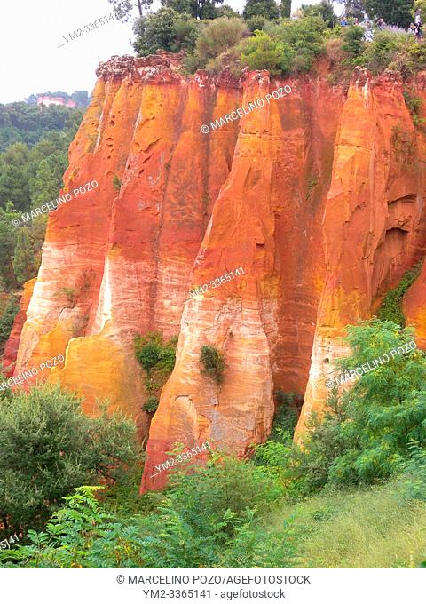 Quarry ochre at Roussillon Village Provence, France