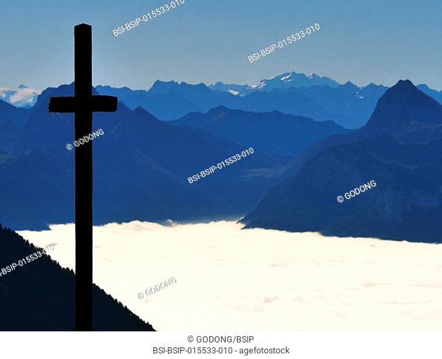Parmelan cross. 1832 m. France