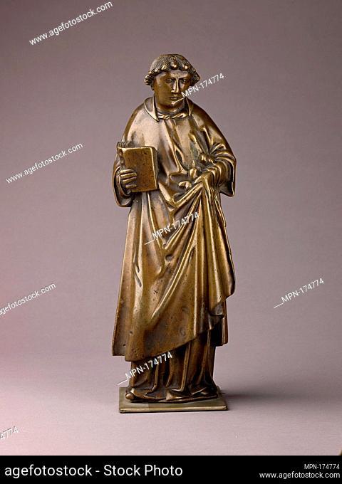 Saint Stephen. Date: third quarter fifteenth century; Culture: Netherlandish, Tournai; Medium: Brass (copper alloy with a high percentage of; Dimensions: H