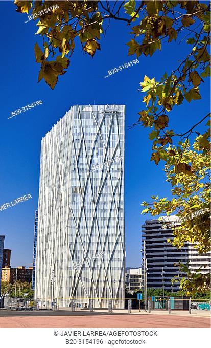 Telefonica building, Forum, Barcelona, Catalunya, Spain, Europe
