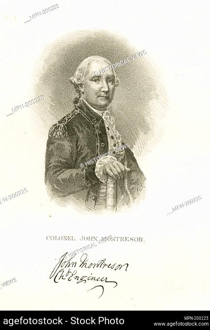 Colonel John Montresor. Emmet Collection of Manuscripts Etc. Relating to American History. Booth's History of New York. Booth's History of New York. V