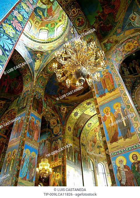 Church on Spilled Blood, St Petersburg, Russia