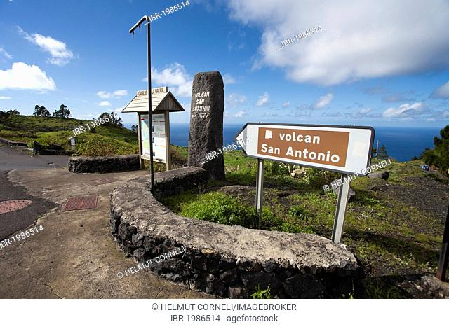 Driveway to the visitor center and the San Antonio volcano, Fuencaliente, Los Canarios, La Palma, Canary Islands, Spain, Europe, Atlantic Ocean