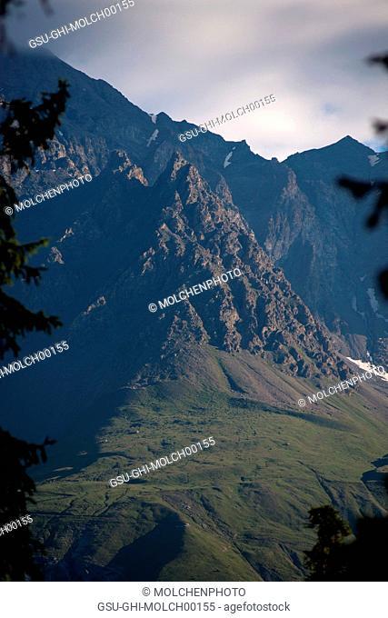 Mountain Peaks at Sunrise, Val Cenis Vanoise, France
