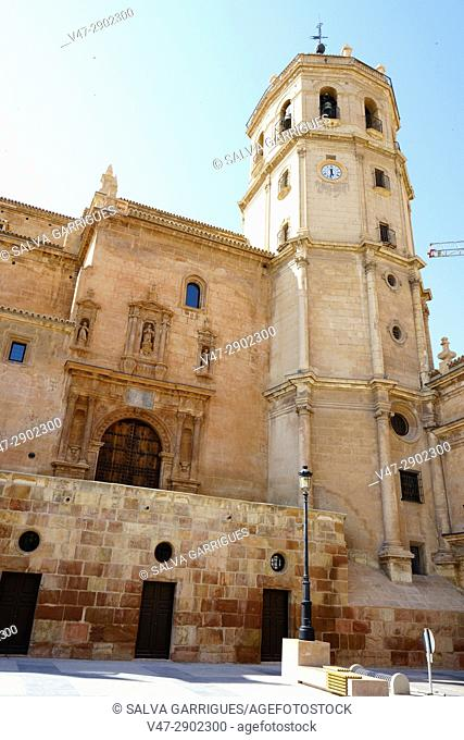 Facade of the Collegiate Church of San Patricio, Lorca, Murcia, Spain