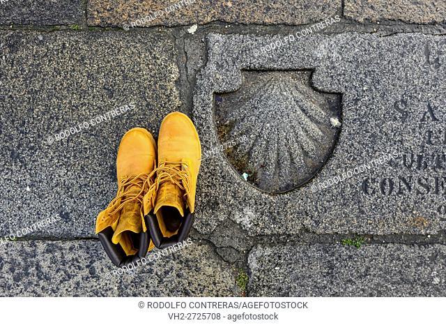 Shell symbol on the floor, Santiago de Compostela