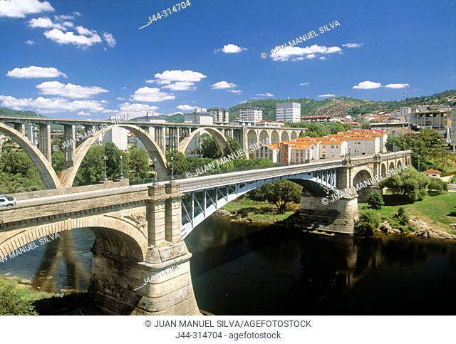 Bridges over Miño river. Ourense. Spain