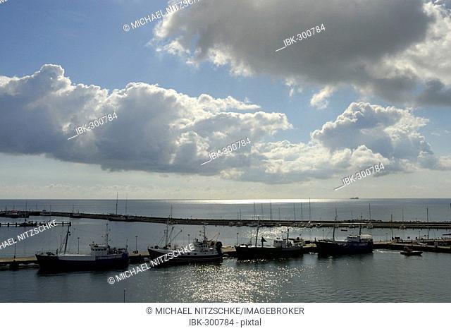 Fishing port of Sassnitz, Rugia, Mecklenburg-Western Pomerania, Germany