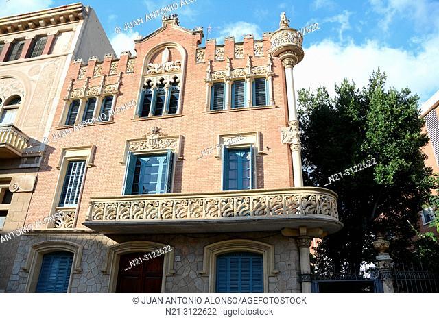 Architect Lluis Domenech i Montaner's Casa Rull. Reus, Tarragona, Catalonia, Spain, Europe