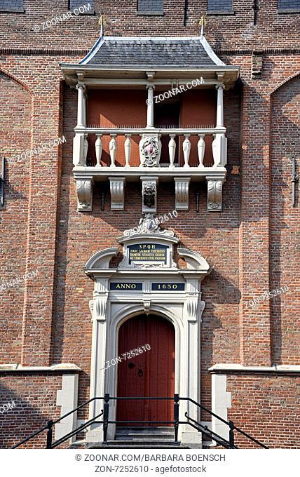 door, Town hall, Grote Markt, Haarlem, The Netherlands, Europe, Tuer, Rathaus, Grote Markt, Haarlem, Niederlande, Europa