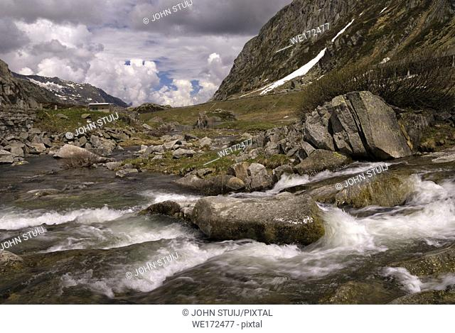 The Gotthard Pass is a mountain pass in the Swiss Alps