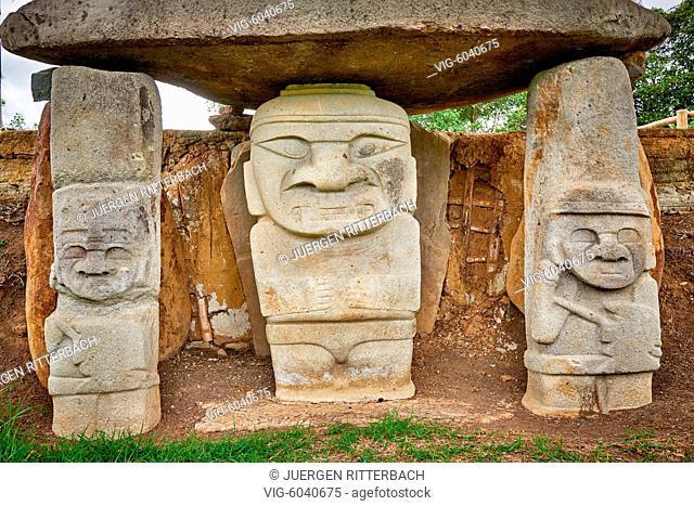 Mesita A archaeological park Parque Arqueologico De San Agustin , Colombia, South America - San Agustin, Huila Department, Colombia, 24/08/2017
