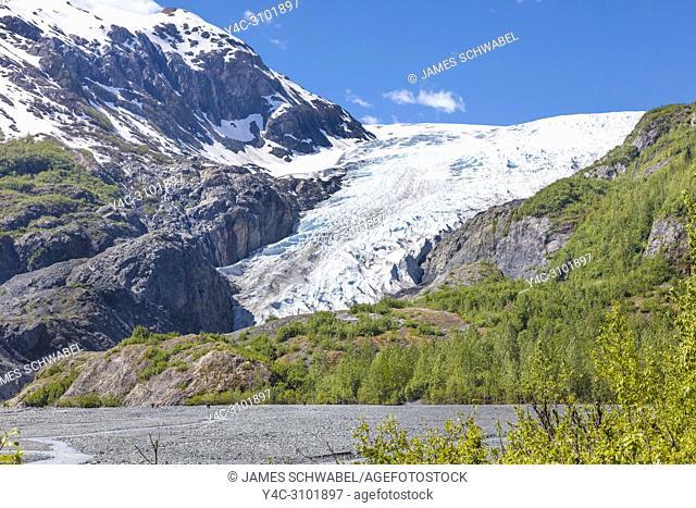Kenai Fjords National Park's Exit Glacier in Seward Alaska