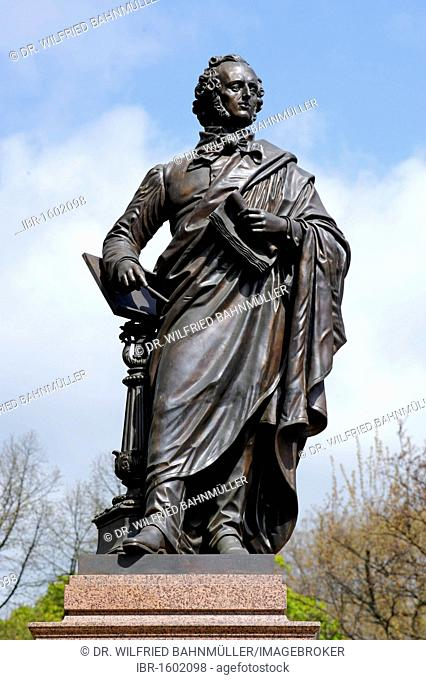 Memorial to F. Mendelssohn Bartholdy (1809-1847), Dittrichring, Leipzig, Saxony, Germany, Europe
