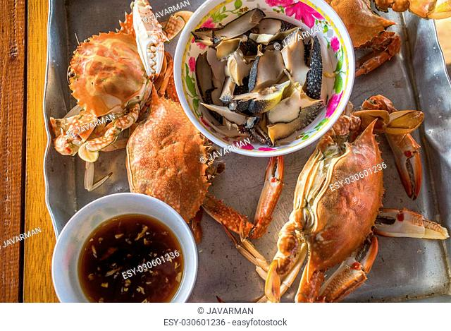 Steamed crab thai style