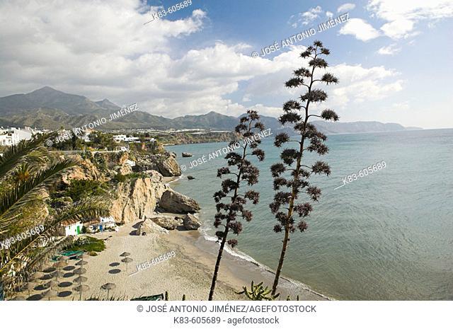 Playa Calahonda (Calahonda Beach), Nerja, La Axarquía, Malaga province. Andalusia, Spain