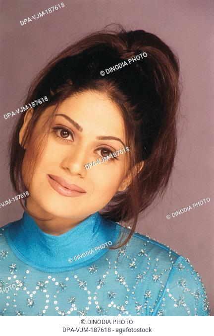 2001, Portrait Of Indian film actress Shilpa Shetty