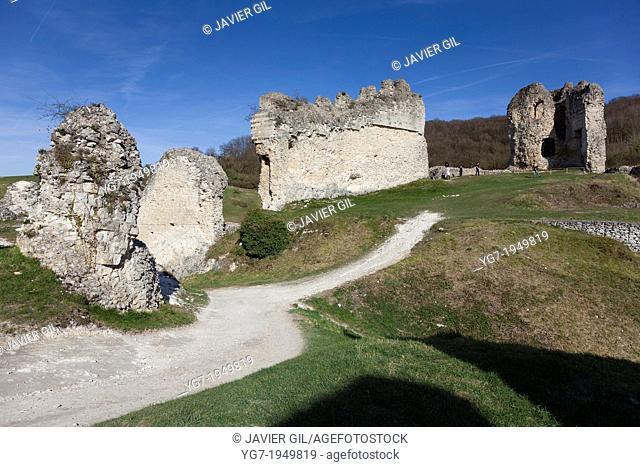 Gaillard castle, Les Andelys, Haute Normandie, France