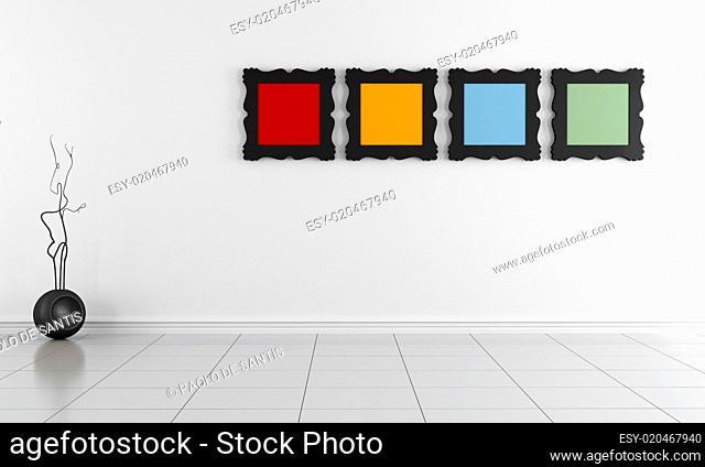 Bright minimalist empty interior