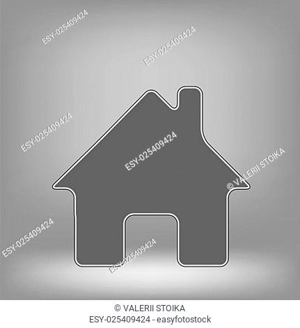 Home Icon on Grey Background for Your Design
