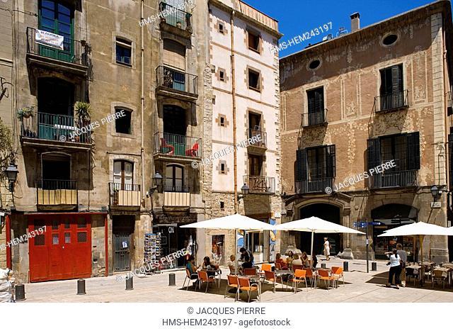 Spain, Catalonia, Barcelona, Barrio Gotico District, Placa Sant Just