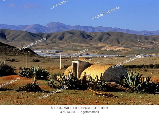 Cistern Near Los Albaricoques  Cabo de Gata-Nijar Natural Park  Biosphere Reserve, Almeria province, Andalucia, Spain