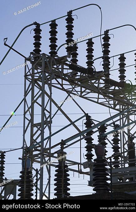 Electricity power station in Birmingham, England, UK