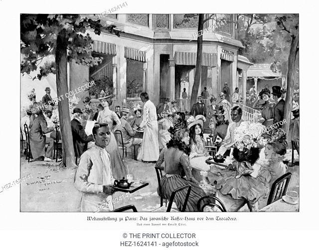 Javanese coffee house, Trocadero, Paris World Exposition, 1889, (1900)