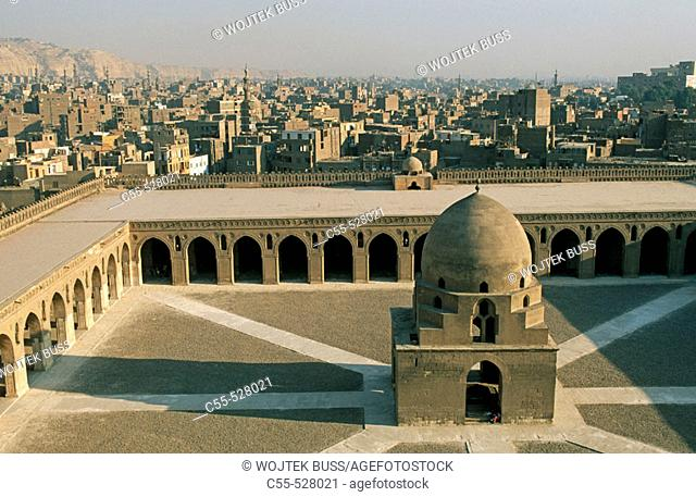 Central fountain in the courtyard of Ibn Tulun mosque, Caire. Egypt