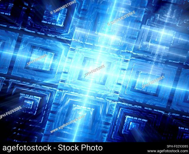 Hardware, abstract fractal illustration