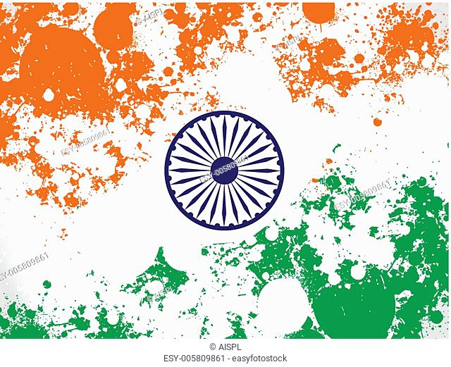 Vector illustration of an Indian National Flag for Republic an
