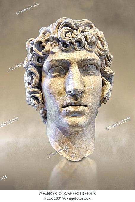 Roman Bust of Antinous - late Hadrianic period circa 130-138AD. National Roman Museum, Rome, Italy