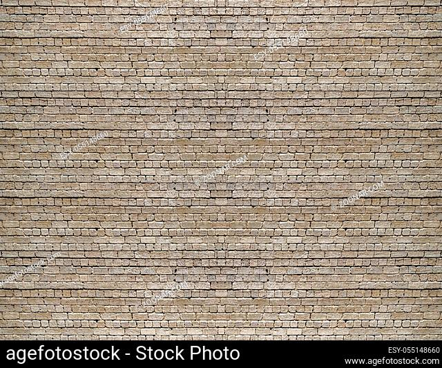 Brickwall texture seamless pattern background in brown colors