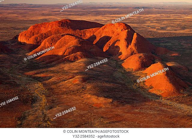The Olgas, aerial view at dawn, Kata Tjuta National Park, Northern Territory