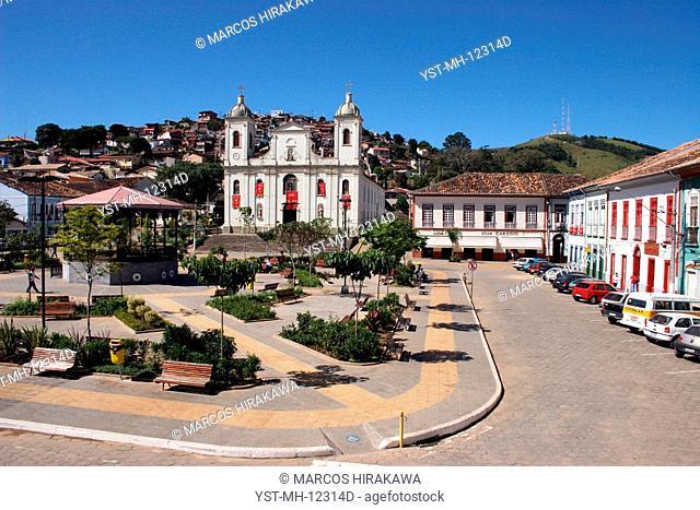 Square Dr. Oswaldo Cruz, Church Matriz de São Luís de Tolosa, São Lúis do Paraitinga, São Paulo, Brazil
