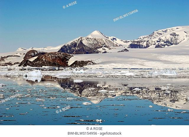 mountain range in the antarctic, Antarctica, Suedpolarmeer