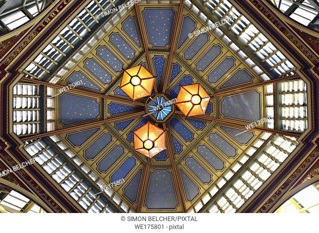 Leadenhall Market Ceiling, London, United Kingdom