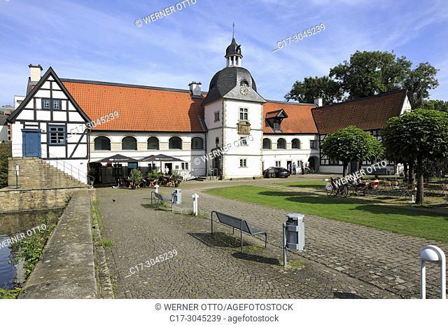 Dortmund, Aplerbeck, D-Dortmund, Ruhr area, Westphalia, North Rhine-Westphalia, NRW, D-Dortmund-Aplerbeck, House Rodenberg, moated castle, baroque