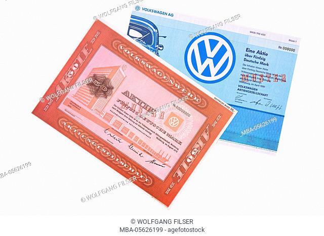 Stocks of the company VW, Volkswagen