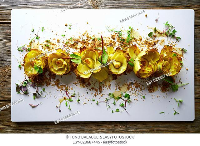 Artichoke roses with truffle and honey vinaigrette
