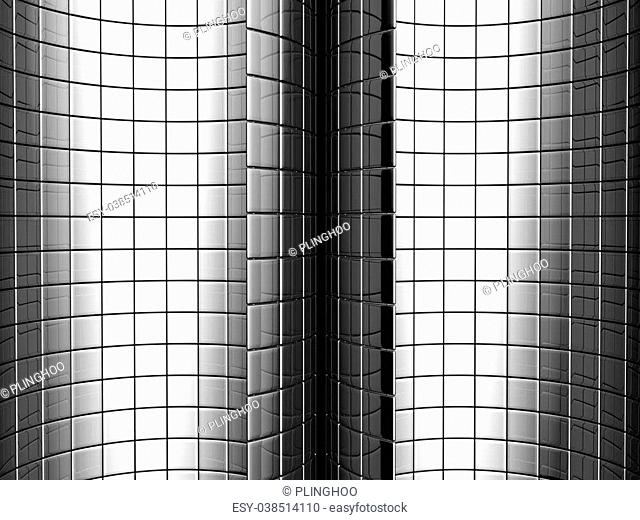 Abstract aluminum curve square pattern background 3d illustration