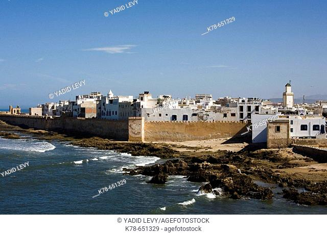 View over the rampart of the old town. Essaouira, Morocco