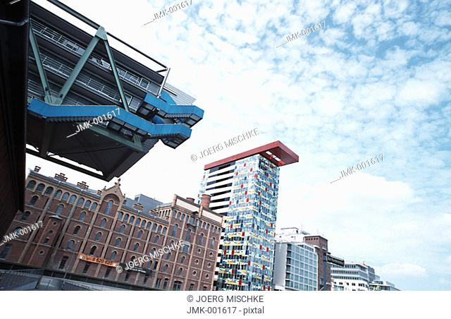 Modern office blocks, office buildings
