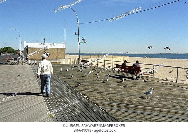 Boardwalk, Coney Island, New York, USA