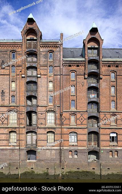 Erbaut 1885-1905. Hamburg, Speicherstadt, Hamburg, Speicherstadt