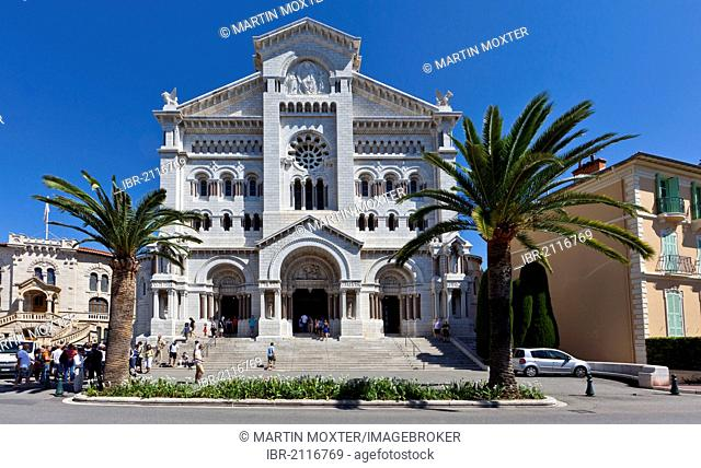 Saint Nicholas Cathedral, Neo-Romanesque, Monte Carlo, Principality of Monaco, Côte d'Azur, Europe, PublicGround